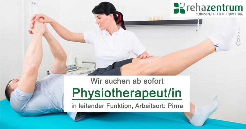 Stellenanzeige Leitende(r) Physiotherapeut/in, Pirna, Festgehalt + Provision